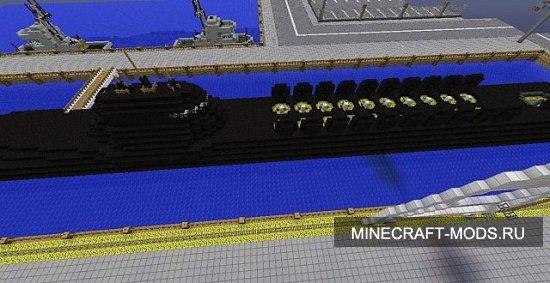 как в minecraft сделать подводную лодку